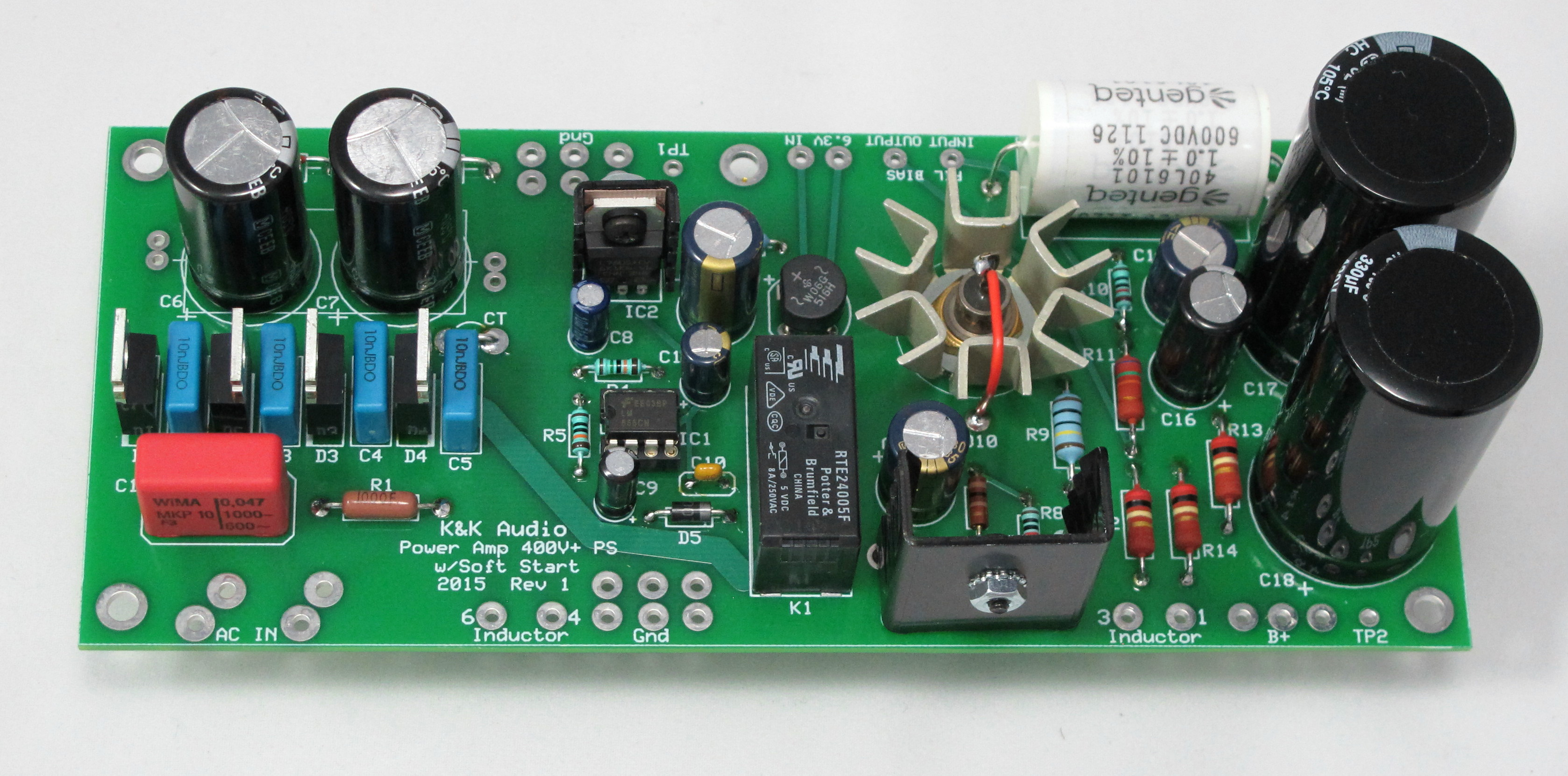 Power Amplifier K Audio Music Supply Circuit With High And Low Voltage Higher Kit Soft Start Shown Configured For Clc